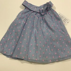 Newborn girl dress in blue and pink NWT